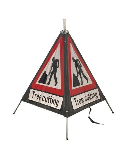 Quazar 3 Sided Roll Up Tree Cutting Sign - 750mm
