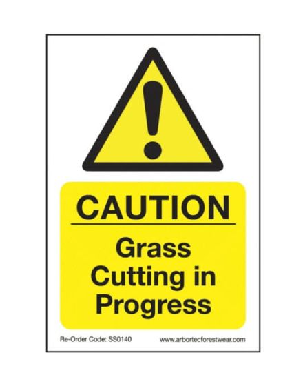 Arbortec 'Caution Grass Cutting In Progress' Corex Safety Sign