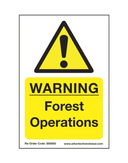 Arbortec 'Warning Forest Operations' Corex Safety Sign