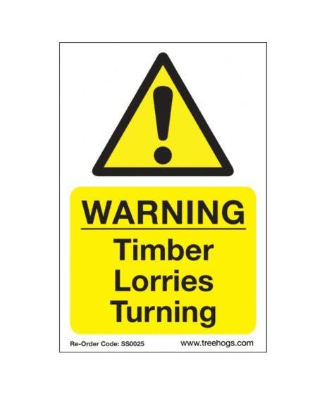 Arbortec 'Warning Timber Lorries Turning' Corex Safety Sign