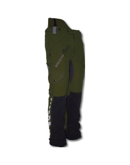 Arbortec Breatheflex Olive Chainsaw Trousers - Type A - Class 1