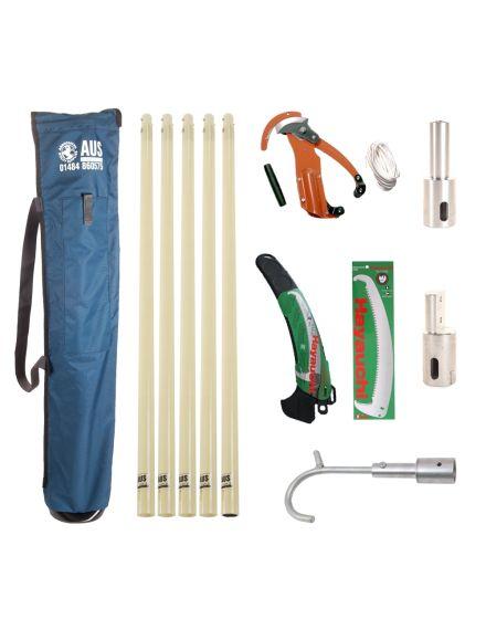 AUS Deluxe Fibre Glass Pole Kit - 5 Total Poles