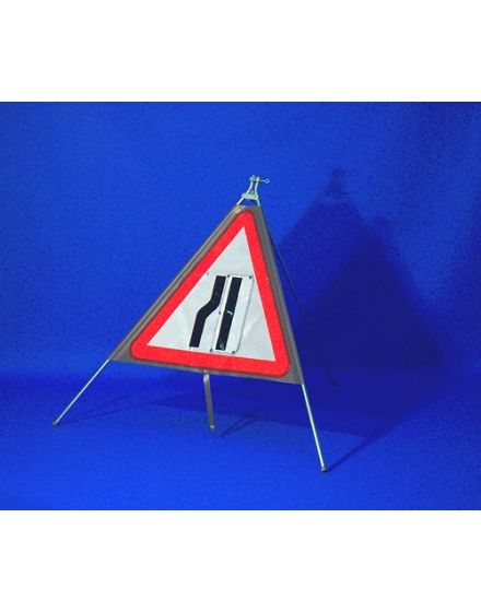 Quazar Classic Roll Up Flexible Road Narrows Sign - Reversible