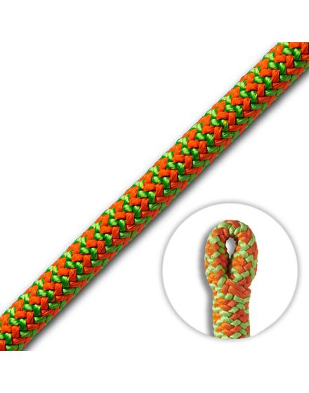 Cousin ATRAX 11.6mm Green/Orange Climbing Rope (Splice)