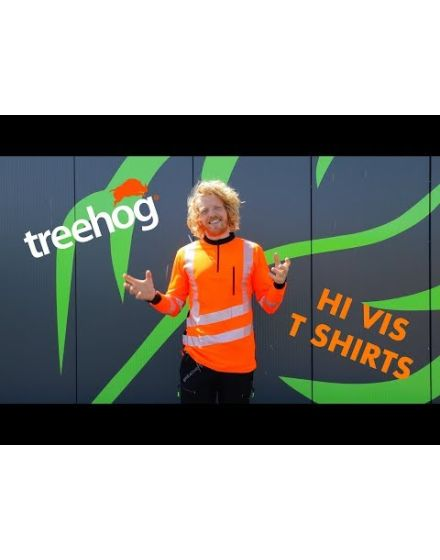 Treehog Polo Long Sleeve Shirt - Hi-Viz Orange
