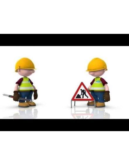 quazar classic up men at work sign