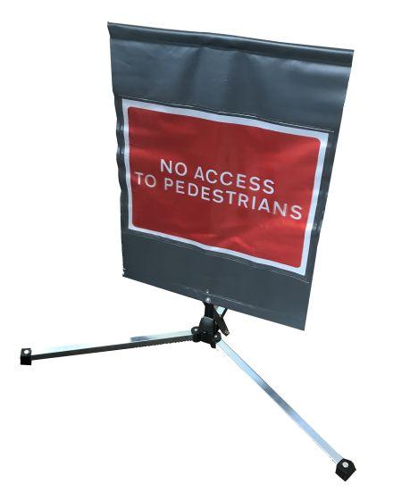 Quazar TriFlex Square 'No Access To Pedestrians' Sign