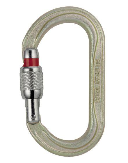Petzl OXAN Steel Oval Screw Lock Karabiner