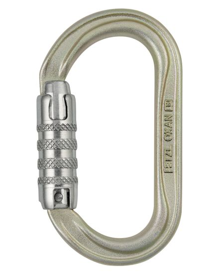 Petzl OXAN Steel Oval Triact Lock Karabiner