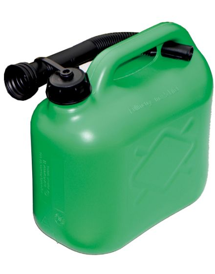 Green Fuel Can With Spout - 5L