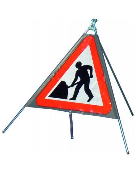 Quazar Classic Roll Up Men At Work Sign