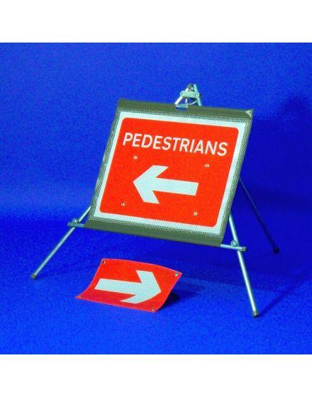 quazar classic roll up pedestrian sign
