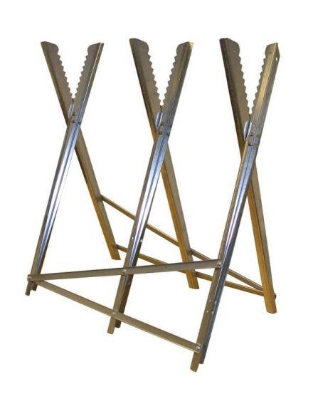 Rocwood Metal Log Saw Horse Stand