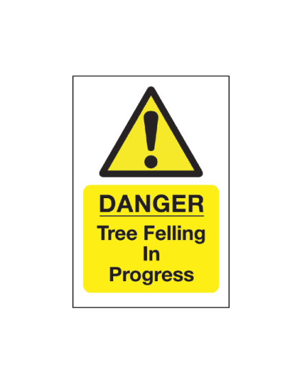 Correx 'Tree Felling In Progress' Safety Sign