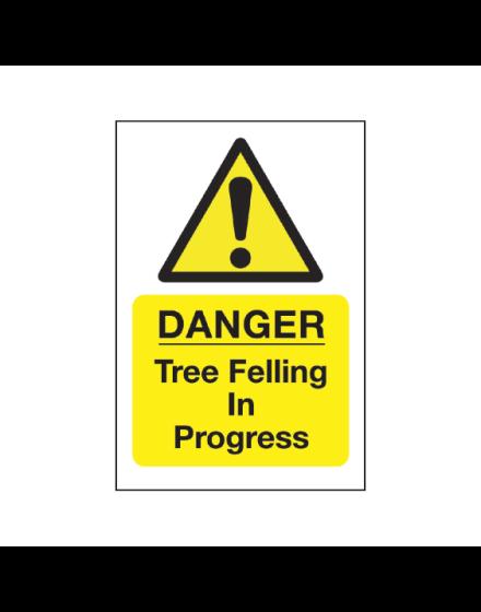 Correx 'Tree Felling In Progress' Safety Sign