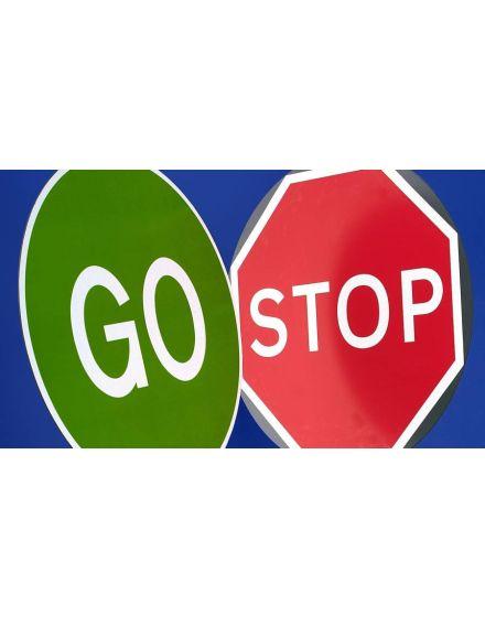 Quazar STOP/GO Fold up Sign
