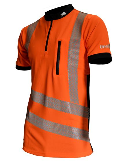 Treehog Polo Short Sleeve Shirt - Hi-Viz