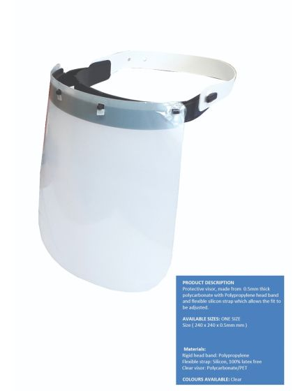 Clear Protective Visor Face Shield