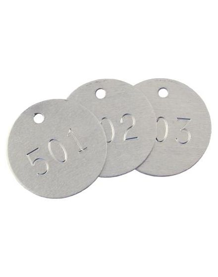Aluminium Tree Tags - Round - Packs Of 1000 Between 1 & 4000