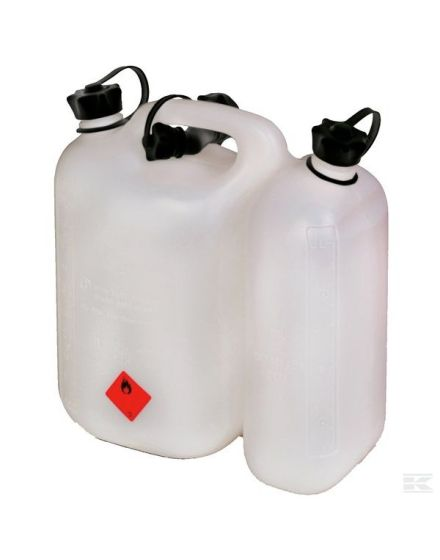 Kramp Double Jerry Can White - 5.5/3L