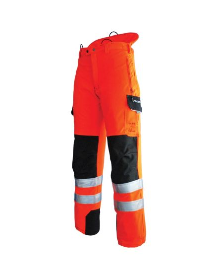 Pfanner Hi-Viz Orange Rail Way Chainsaw Trousers - Type C