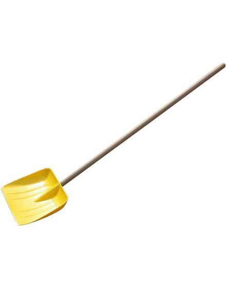 yellow snow shovel