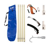 AUS Pro Fibre Glass Pole Kit - 5 Total Poles