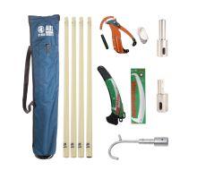 AUS Deluxe Fibre Glass Pole Kit - 4 Total Poles
