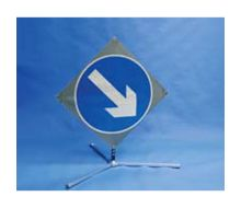 Quazar TriFlex Arrow Road Sign – Keep Left/Right – 750mm
