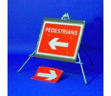Quazar Classic Roll Up Reversible Arrow Pedestrian Sign