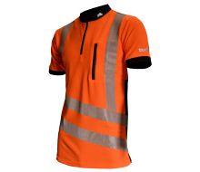 Treehog Polo Short Sleeve Shirt - Hi-Viz Orange