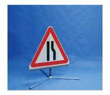 Quazar TriFlex Road Narrows Road Sign – Nearside/Offside