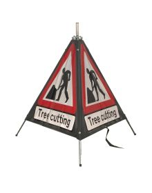 Quazar 3 Sided Roll Up Tree Cutting Sign - 750mm