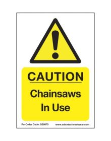 Arbortec 'Caution Chainsaws In Use' Corex Safety Sign