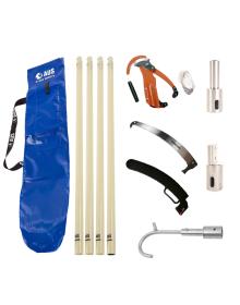 AUS Pro Fibre Glass Pole Kit - 6 Total Poles