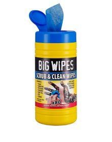 Big Wipes Scrub & Clean Antibacterial Wipes - Pack Of 80
