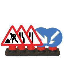 Quazar 600mm Cone Top Sign – 5 Types Available