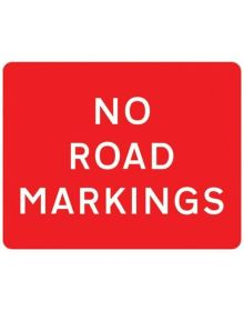 Correx 'No Road Markings' Warning Sign