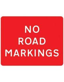 Correx 'No Road Markings' Warning Sign