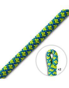 Cousin ATRAX 11.6mm Yellow/Blue Climbing Rope (2 Spliced Eyes)