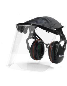 Husqvarna Face Visor With Headband Hearing Protectors