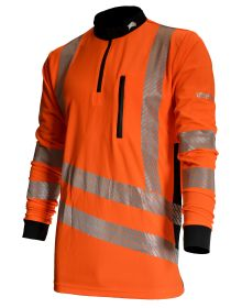 Treehog Polo Long Sleeve Shirt - Hi-Viz Orange