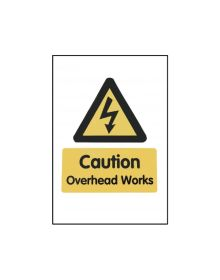 Correx 'Caution Overhead Works' Safety Sign