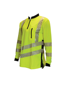 Treehog Polo Long Sleeve Shirt - Hi-Vis Yellow