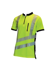 Treehog Polo Short Sleeve Shirt - Hi-Vis Yellow