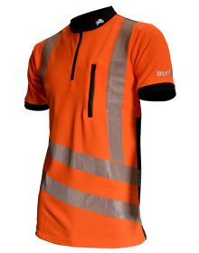 Treehog Polo Short Sleeve Shirt - Hi-Viz Orange