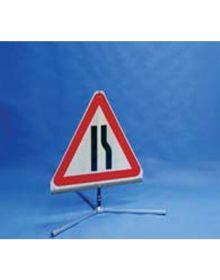 Quazar TriFlex Road Narrows Reversible Road Sign - 750mm