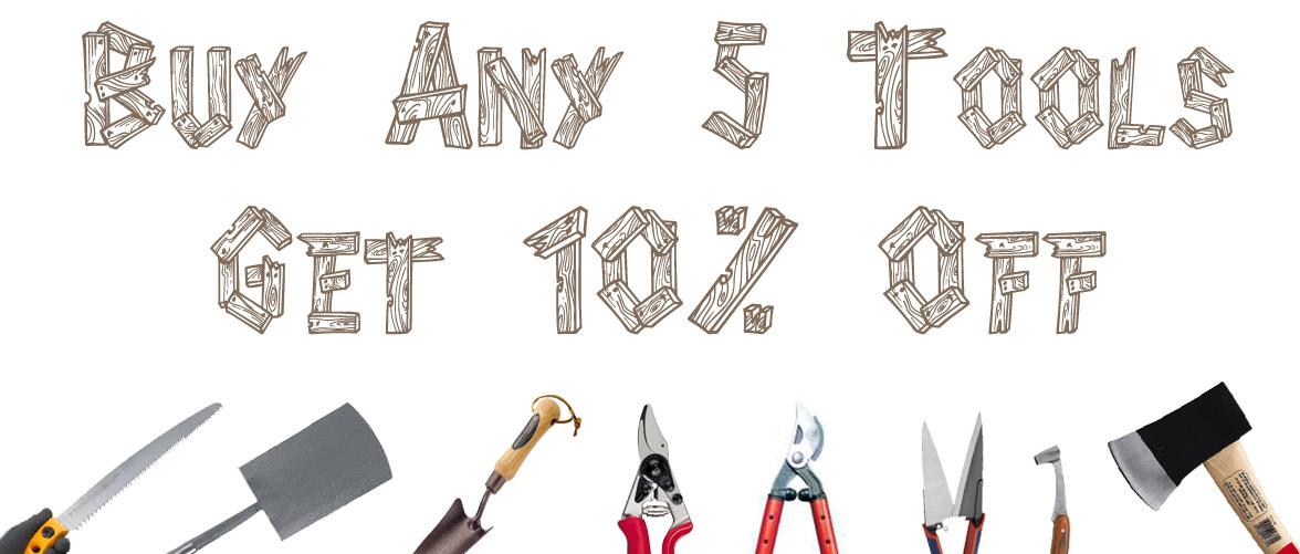 Buy 5 tools, get 10% off