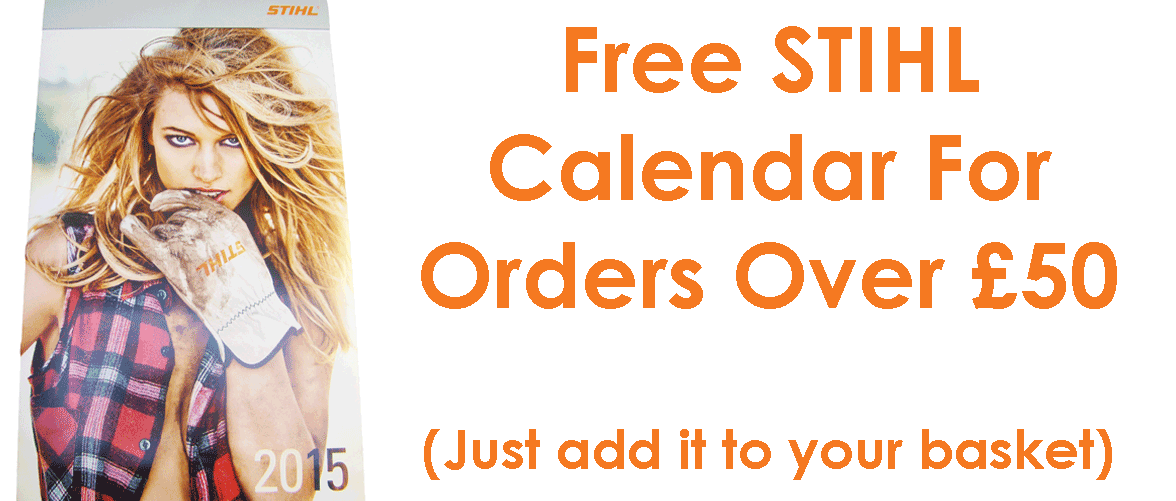 free stihl calendar for £50 or more orders