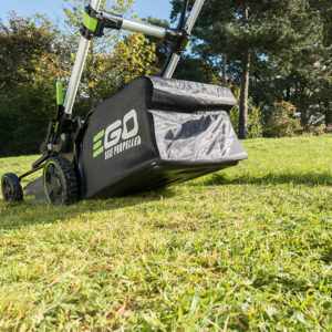 A Grassbox collects clippings and keeps your lawn clean